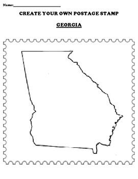 GEORGIA Create your Own Postage Stamp Worksheet