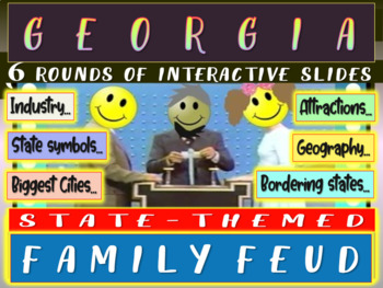 GEORGIA FAMILY FEUD! Engaging game about cities, geography, industry & more