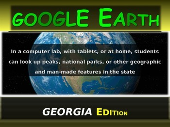 """GEORGIA"" GOOGLE EARTH Engaging Geography Assignment (PPT"