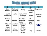 GEORGIA REGIONS BINGO CARD 2