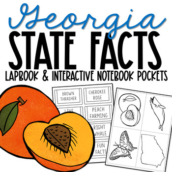 GEORGIA History Lapbook Project | State Symbols | Interactive Notebook Pockets
