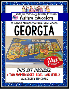 GEORGIA State Symbols ADAPTED BOOK for Special Education a