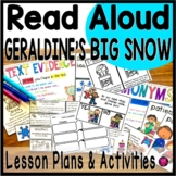 Winter Interactive Read Aloud for Geraldine's Big Snow with Lesson Plans