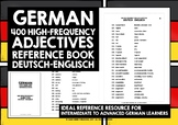 GERMAN ADJECTIVES REFERENCE BOOK - 400 GERMAN ADJECTIVES #1