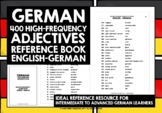 GERMAN ADJECTIVES REFERENCE BOOK - 400 GERMAN ADJECTIVES #2
