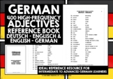 GERMAN ADJECTIVES REFERENCE BOOK - 400 GERMAN ADJECTIVES #3