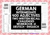 GERMAN ADJECTIVES: WRITTEN RECALL WORKBOOK #1