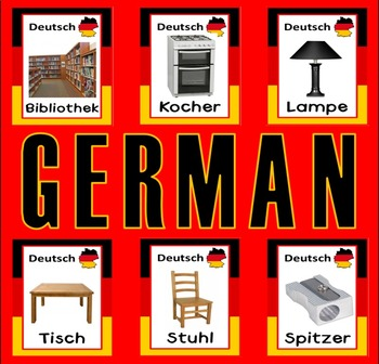 GERMAN AND ENGLISH FLASHCARDS LANGUAGE TEACHING RESOURCES EDUCATION DISPLAY