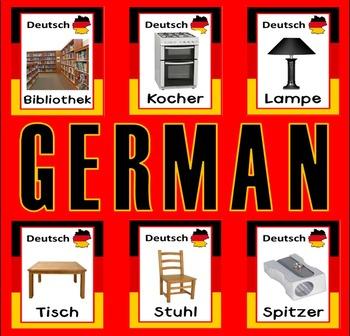GERMAN AND ENGLISH FLASHCARDS LANGUAGE TEACHING RESOURCES EDUCATION DISPLAY