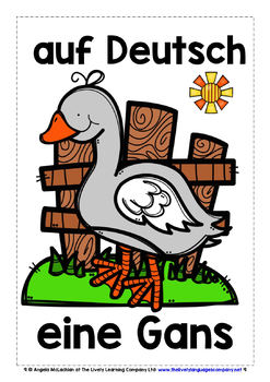 GERMAN FOR CHILDREN - 20 ANIMALS POSTERS / FLASHCARDS (3)