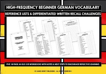 GERMAN VOCABULARY CARDS & WORKBOOKS #1