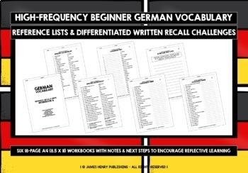 GERMAN VOCABULARY CARDS & WORKBOOKS #2