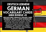 GERMAN VOCABULARY CARDS & WORKBOOKS BUNDLE #2
