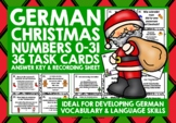 CHRISTMAS: GERMAN CHRISTMAS NUMBERS 0-31 TASK CARDS