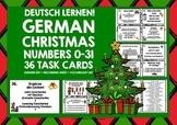 CHRISTMAS: GERMAN CHRISTMAS NUMBERS 0-31 TASK CARDS
