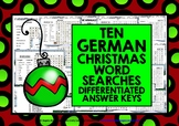 GERMAN CHRISTMAS WORD SEARCHES