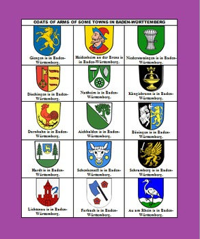 GERMAN STATES & THEIR COATS OF ARMS {Great For End Of School, Art, Culture, Etc}