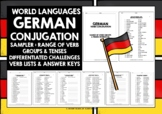 GERMAN CONJUGATION PRACTICE SAMPLER