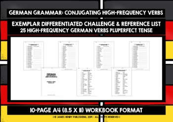 GERMAN HIGH-FREQUENCY VERBS CONJUGATION #6