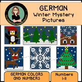 GERMAN Color By Number WINTER Mystery Pictures