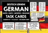 GERMAN DAYS DATES MONTHS SEASONS TASK CARDS