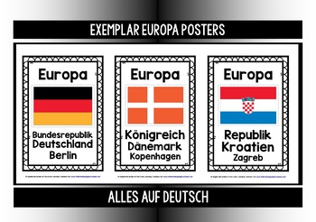 GERMAN - EUROPE QUIZZES & POSTERS AUF DEUTSCH!