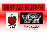 GERMAN FRUITS - 25 DISPLAY POSTERS / FLASHCARDS