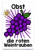 GERMAN FRUITS - CLASSROOM DECOR - 22 DISPLAY POSTERS/FLASHCARDS