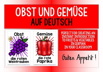 GERMAN FRUITS/VEGETABLES CLASSROOM DECOR BUNDLE - 50 POSTE