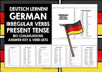 GERMAN IRREGULAR VERBS WORKBOOK #1