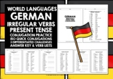 GERMAN IRREGULAR VERBS CONJUGATION #1 DISTANCE LEARNING
