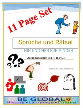 (German Language) Sprüche und Rätsel: 11 Short Readings for German Studies