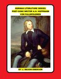 GERMAN LITERATURE SERIES: POET-SONG WRITER A.H. HOFFMANN