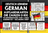 GERMAN NUMBERS 0-100 TASK CARDS