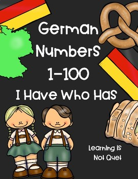 GERMAN NUMBERS 1-100, I Have Who Has Cards