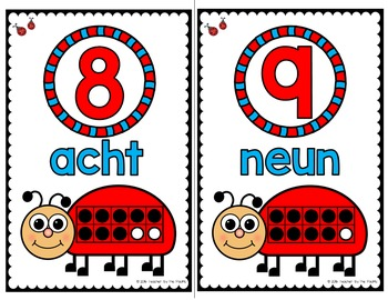 GERMAN Number Posters 0 - 10 {LADYBUG MATH}