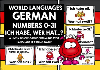 GERMAN NUMBERS 0-31 GAME - I HAVE, WHO HAS?