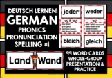 GERMAN PHONICS, RHYMES & SOUNDS CARDS WITH PRONUNCIATION PRACTICE 1