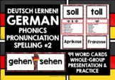 GERMAN PHONICS, RHYMES & SOUNDS CARDS WITH PRONUNCIATION PRACTICE 2