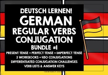 GERMAN REGULAR VERBS CONJUGATION - PRESENT, PERFECT & IMPERFECT TENSE