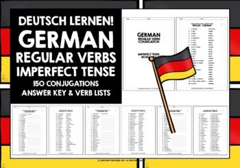 GERMAN REGULAR VERBS IMPERFECT TENSE