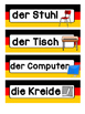 GERMAN Classroom Labels