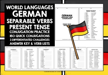 GERMAN SEPARABLE VERBS PRESENT TENSE