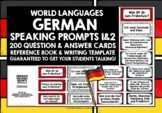 GERMAN SPEAKING PROMPTS 1 & 2 - 200 CARDS & REFERENCE BOOKLETS