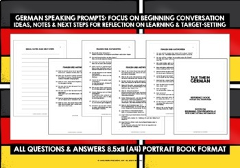 GERMAN SPEAKING PROMPTS - 100 CARDS & REFERENCE BOOKLET (2)