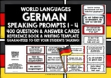GERMAN SPEAKING PROMPTS - 400 CARDS WITH REFERENCE BOOKLET