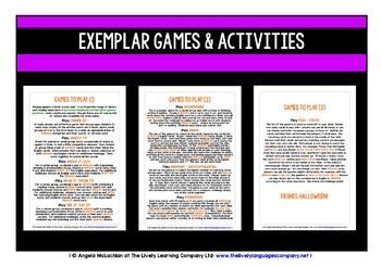 GERMAN VOCABULARY HALLOWEEN GAMES & QUIZ 198 WORDS & PHRASES