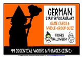 GERMAN VOCABULARY HALLOWEEN GAMES & QUIZ 99 WORDS & PHRASES (1)