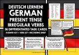 GERMAN TASK CARDS IRREGULAR VERBS PRESENT TENSE