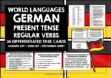 GERMAN TASK CARDS REGULAR VERBS PRESENT TENSE